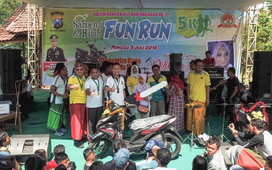 2.500-an Peserta Ikuti Saroeng & Hijab Fun Run 5K