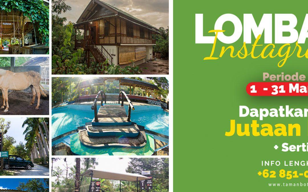 Lomba Foto Instagram Taman Botani Sukorambi 2021